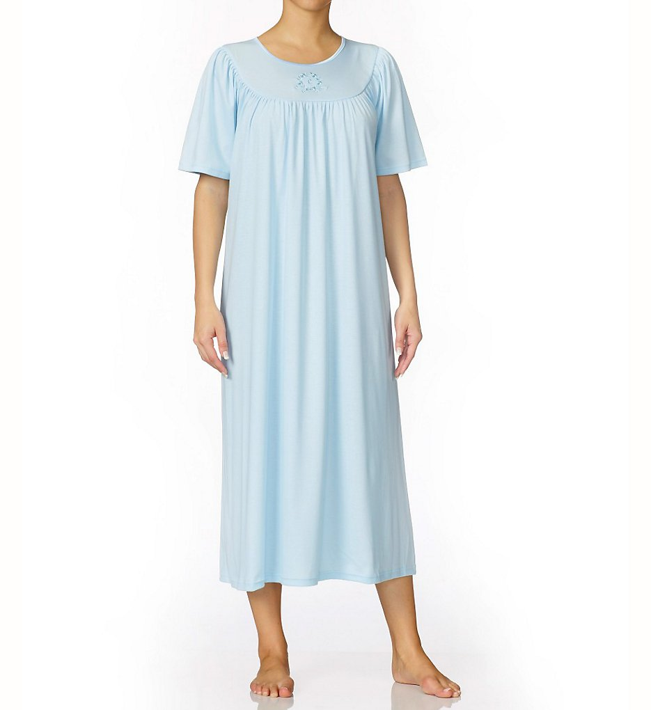 CALIDA 33400 Soft Cotton Short Sleeve Night Shirt Gown