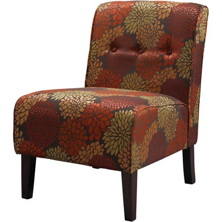 Linon Coco Accent Chair Harvest Fabric 18 Inch Seat