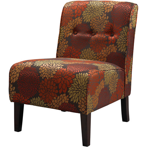 Linon Coco Accent Chair, Harvest Fabric, 18 inch Seat Height