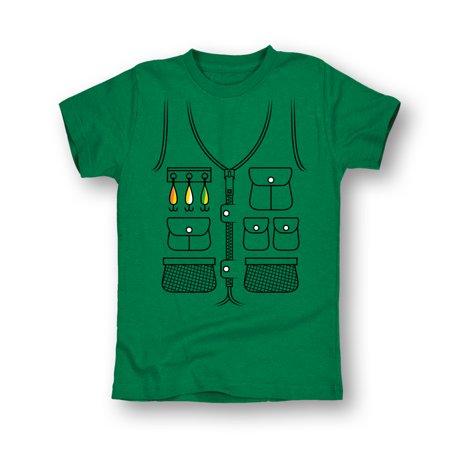 Fishing vest tuxedo youth toddler short sleeve tee for Kids fishing vest