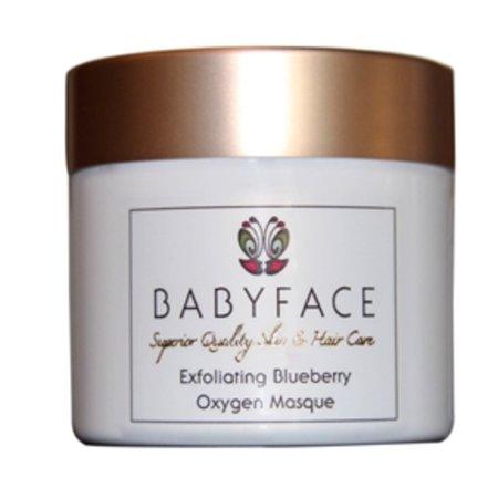 Turmeric Antioxidant Facial Mask - Babyface Blueberry Oxygen Facial Mask - Powerful Antioxidant & Exfoliating, 2.5 oz