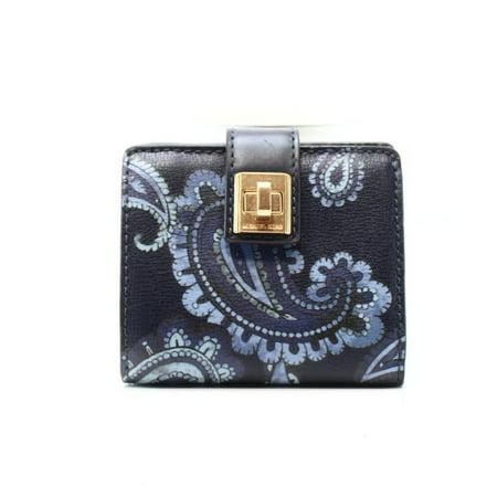 98981c7fbc7f michael-michael-kors - michael kors new blue paisley printed natalie bifold  turnlock wallet - Walmart.com