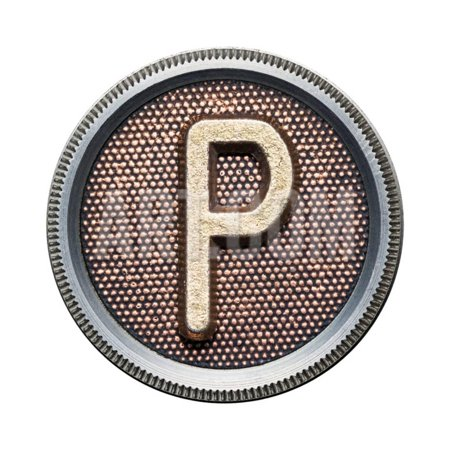 Metal Button Alphabet Letter Print Wall Art By donatas1205