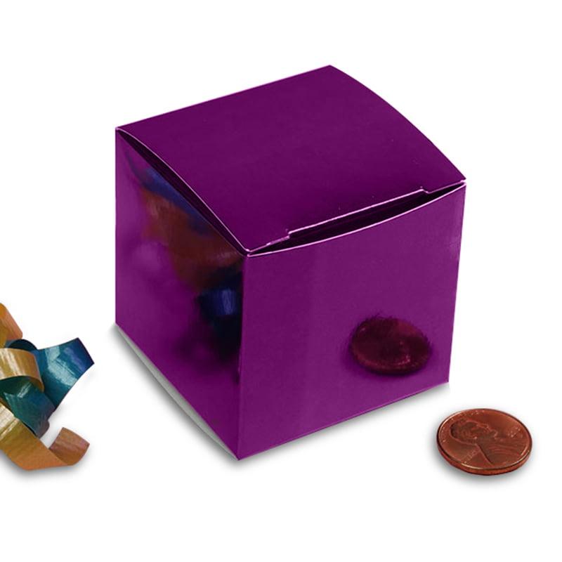 "Metallic Purple Gift Box 2"" X 2"" X 2"" | Quantity: 25 by Paper Mart"