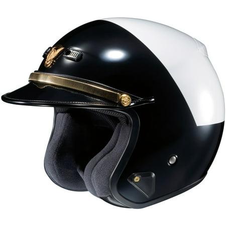 Shoei RJ Plantinum-R LE Hi-Rise Helmet, Black/White, Size:XS