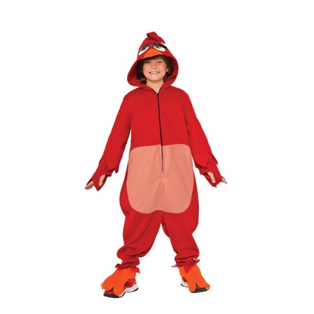 Kids Red Angry Birds Cozy Jumpsuit Costume