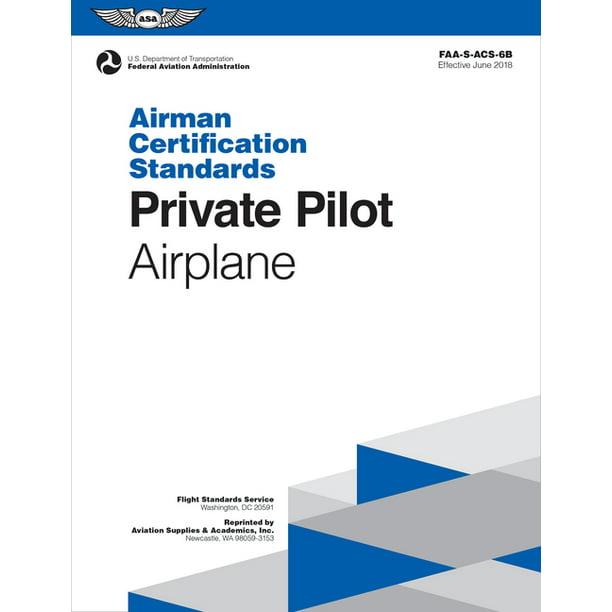 faa airplane airman certification standards acs pilot 6b engine private land multi sea single