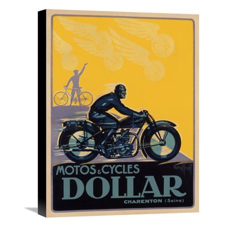 Global Gallery Motos   Cycles Dollar Canvas Wall Art