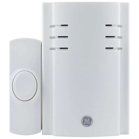 GE Plug In Wireless Door Chime With Push Button, 2 Melodies