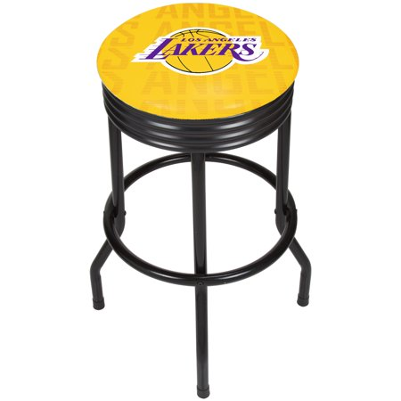 Party City In Los Angeles (NBA Black Ribbed Bar Stool - City - Los Angeles)