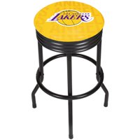NBA Black Ribbed Bar Stool - City - Los Angeles Lakers