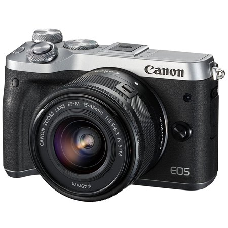 Canon EOS M6 Mirrorless Digital Camera with 15-45mm Lens (Silver) - (Intl