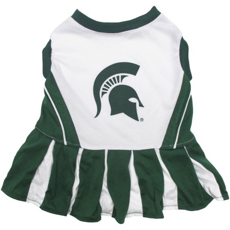 Pets First College Michigan State Spartans Cheerleader, 3 Sizes Pet Dress Available. Licensed Dog Outfit](Spartan Cheerleaders)