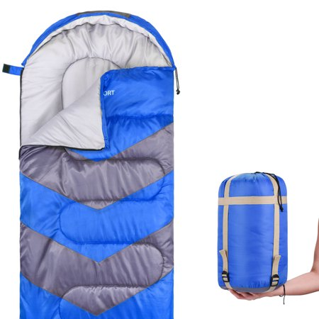 Sleeping Bag - Envelope Lightweight Portable, Waterproof, Comfort With Compression Sack - Great For 4 Season Traveling, Camping, Hiking, & Outdoor