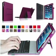 Fintie iPad Air 2 Keyboard Case - Folio Stand Cover with Removable Wireless Bluetooth Keyboard, Purple