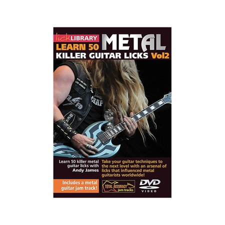 Licklibrary Learn 50 Metal Killer Guitar Licks (Volume 2) Lick Library Series DVD Performed by Andy James Dvd Guitar Lick Library
