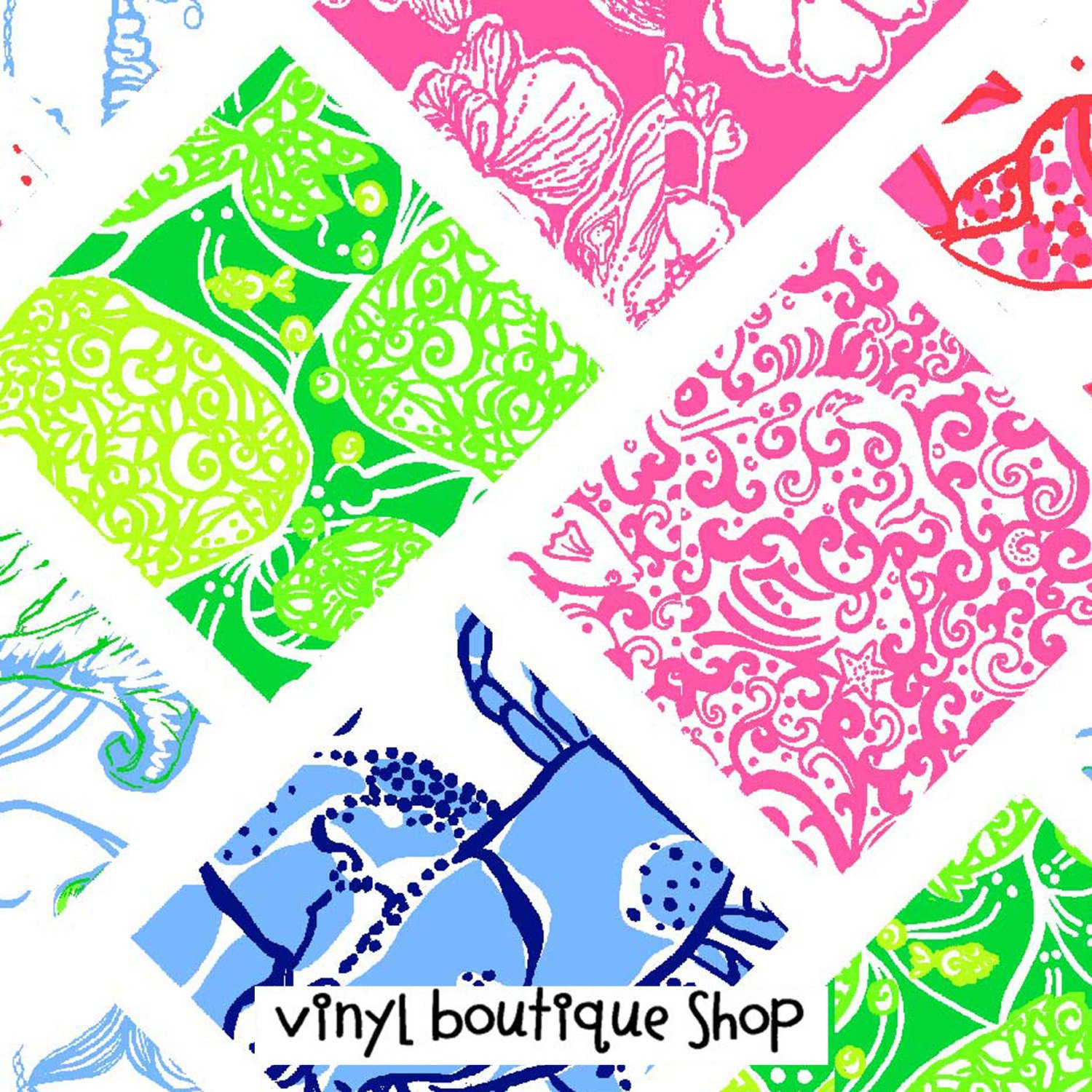 Patchwork Piece Lilly Inspired Printed Patterned Craft Vinyl