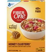 Fiber One Cereal, Honey Clusters, 14.25 oz