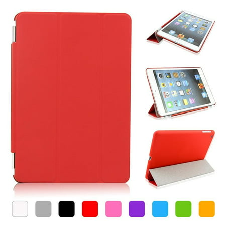 iPad mini 1/2/3 case cover,CoastaCloud Magnetic PU leather Ultra-thin Smart Cover + Hard Back Case For Apple iPad Mini2/with Retina Display & iPad Mini 3 Smart Case & Cleaning Cloth & Screen