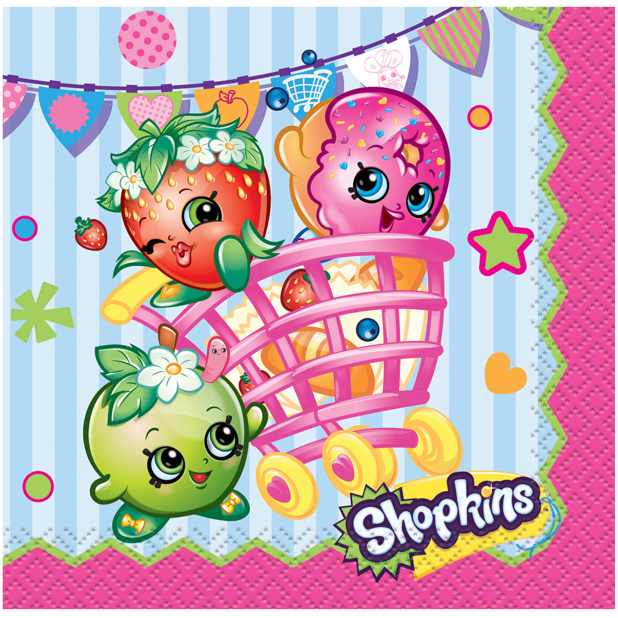 Shopkins Beverage Napkins, 16ct