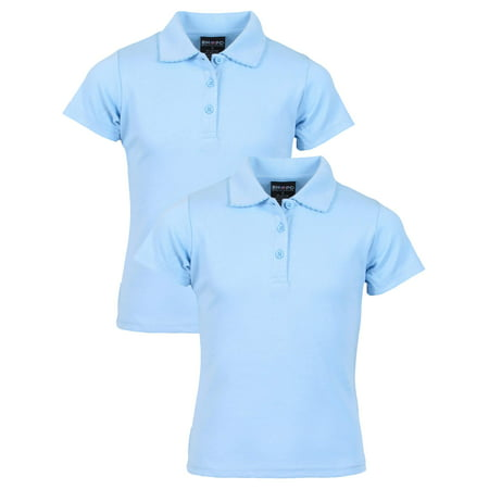 Girls' School Uniform 2 Pack Short Sleeve Pique Polo