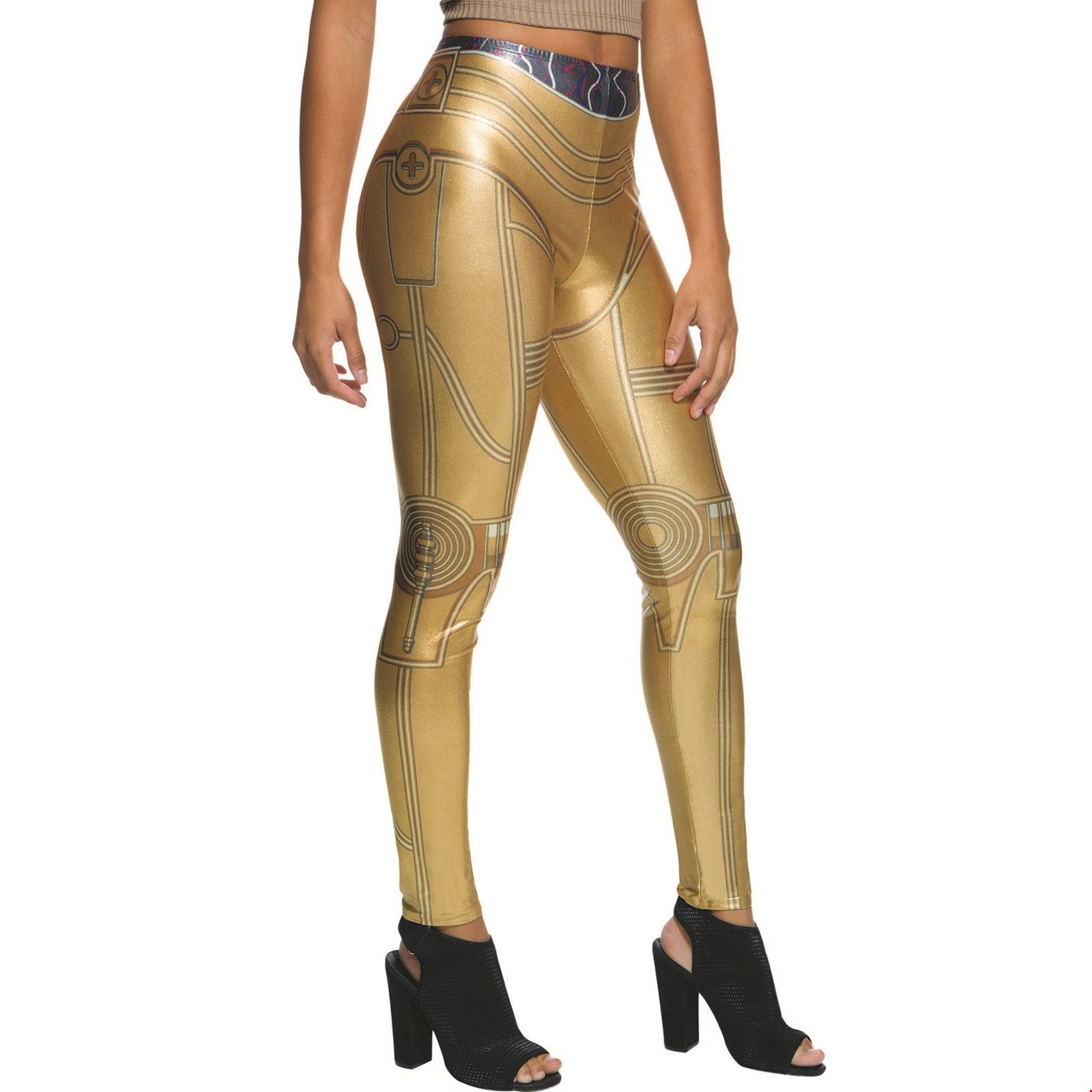Star Wars Womens C3Po Leggings Halloween Costume Accessory