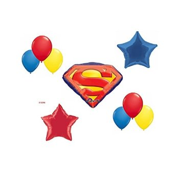 Superman Party Balloon Decoration Kit - Superman Party Decorations