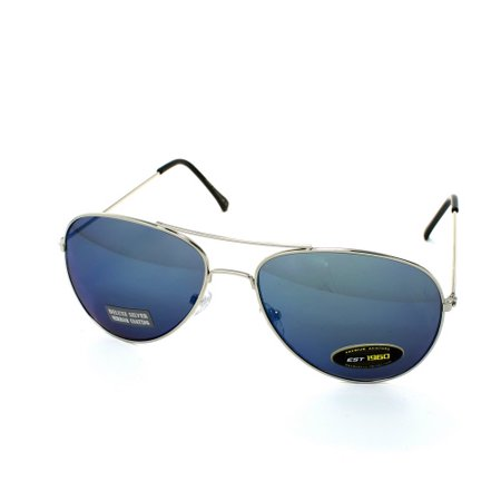 8cc5031abc0be AIR FORCE Aviator Color Mirror Sunglasses - Mirror Blue - image 1 of 1 ...