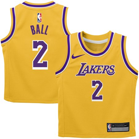 - Lonzo Ball Los Angeles Lakers Nike Preschool Replica Jersey Gold - Icon Edition