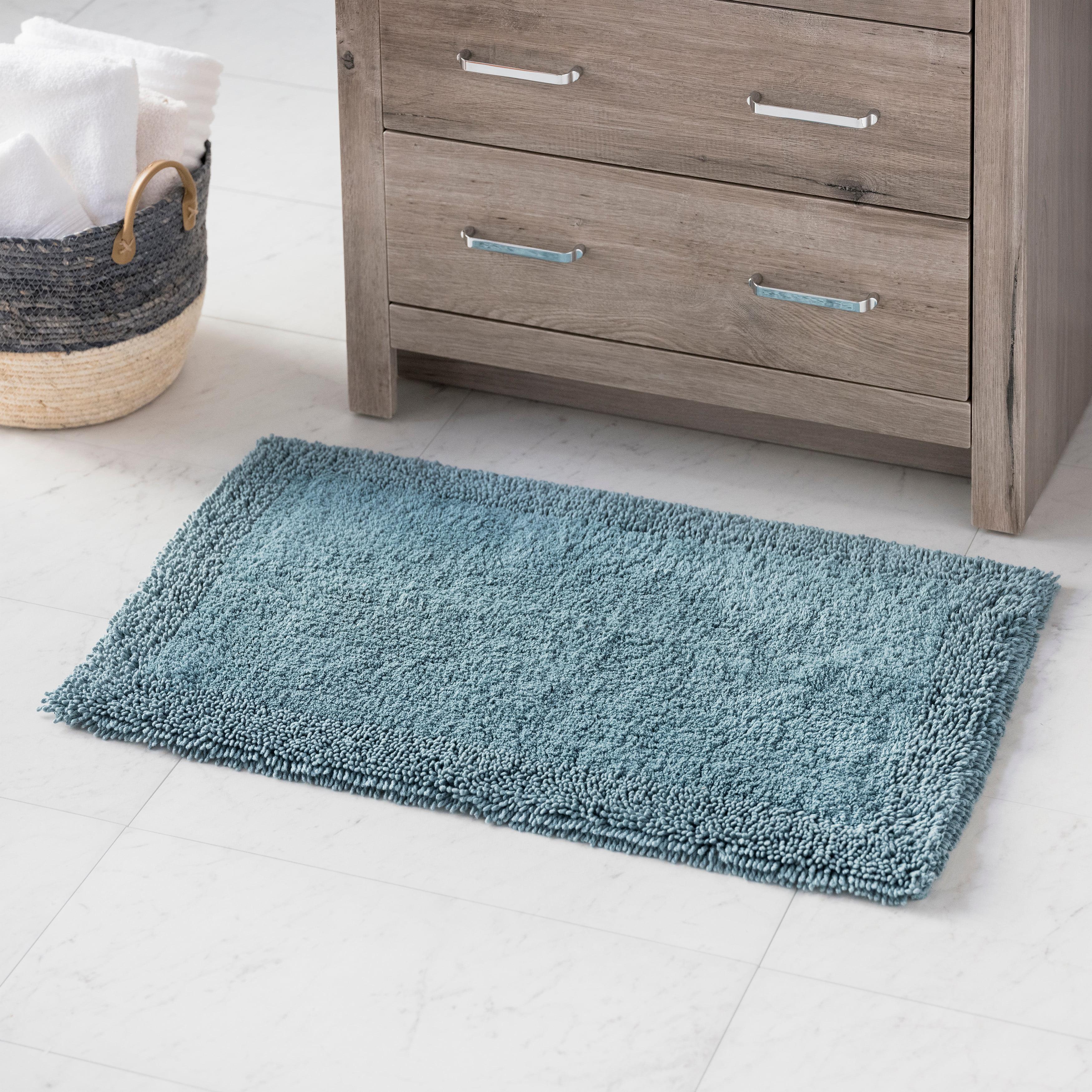 Hotel Style Cotton Blend Solid Bath Rug 17 X 24 Teal Walmart Com Walmart Com