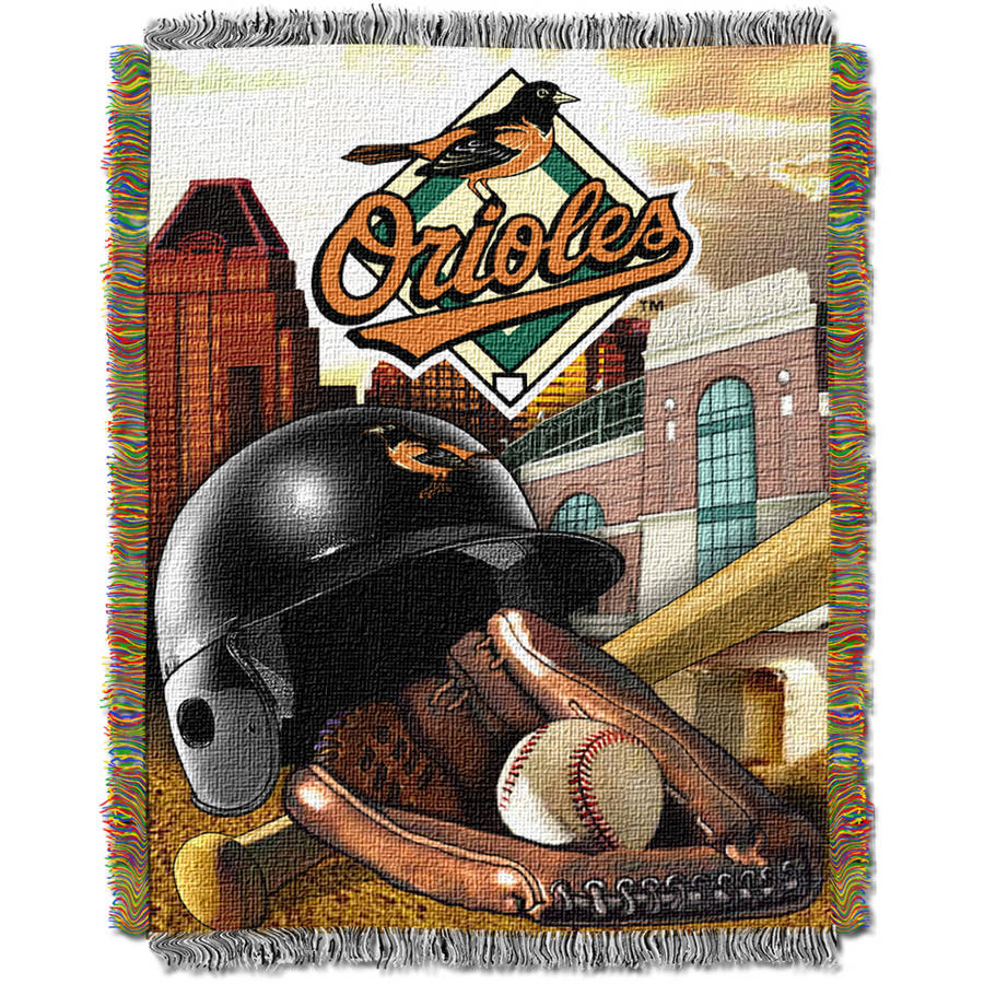 """MLB 48"""" x 60"""" Home Field Advantage Series Tapestry Throw, Orioles"""