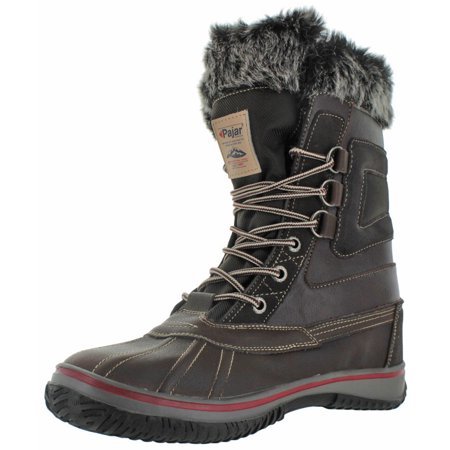Pajar Tyrol Mens Faux Fur Lined Waterproof Snow Duck Boots by