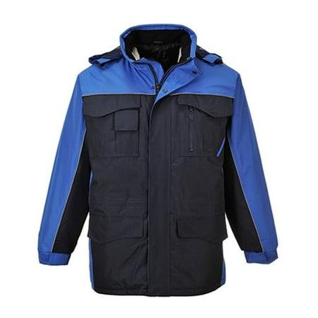 Portwest US562 2XL Ripstop Parka Jacket, Navy & Royal Blue - Regular - image 1 of 1