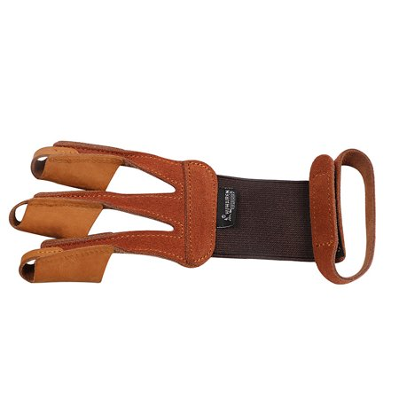 1PCS Archery Protector 3 Finger Tab Glove with Wrist Strap Protect Guard Archery Accessories - image 3 de 7