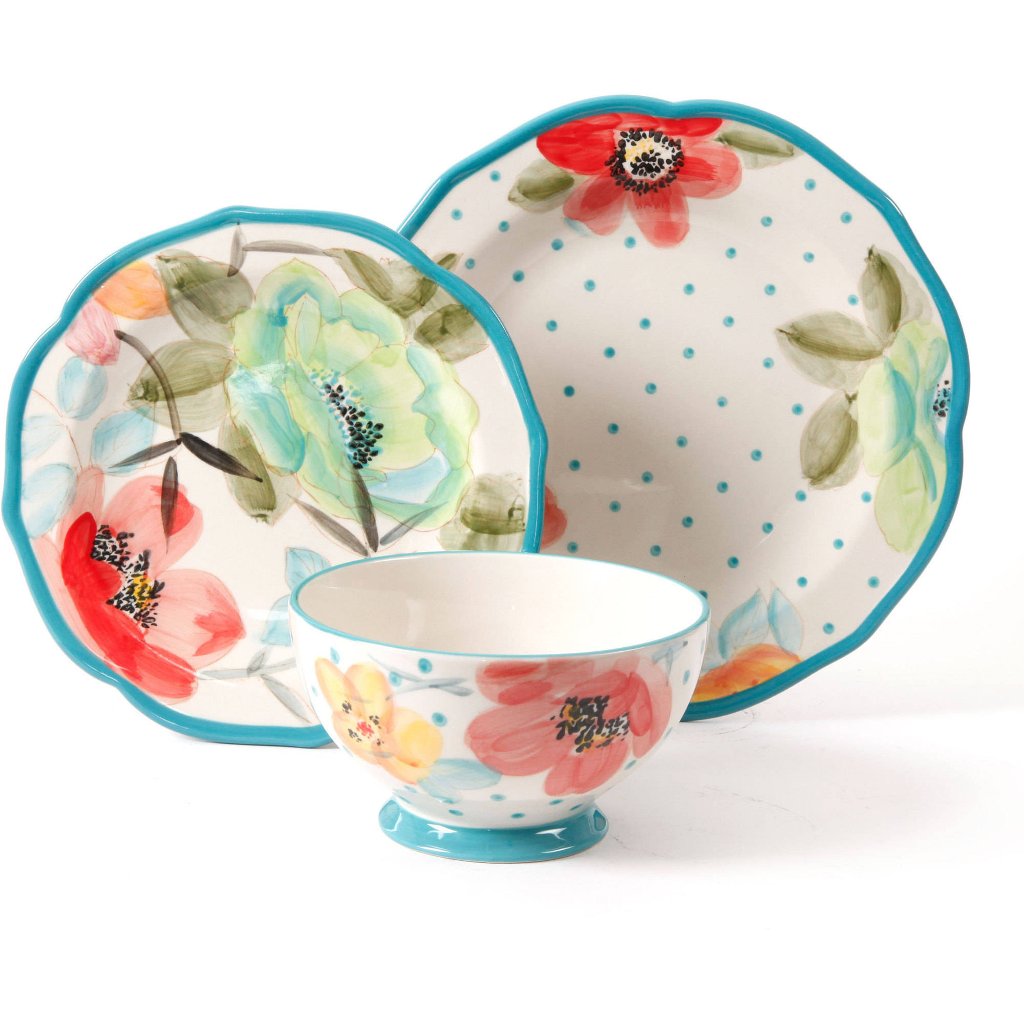 The Pioneer Woman Vintage Bloom 12-Piece Decorated Dinnerware Set - Walmart.com  sc 1 st  Walmart.com & The Pioneer Woman Vintage Bloom 12-Piece Decorated Dinnerware Set ...