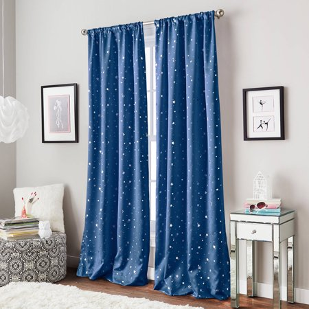Starry Night Room Darkening Kids Bedroom Curtain