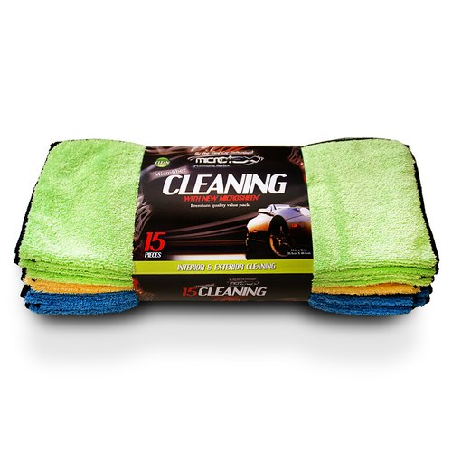 Microtex Platinum XL Microfiber Cleaning Cloths, 15pk