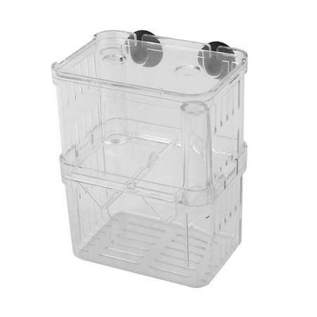Aquarium Plastic Double Layers Fish Hatchery Isolation Breeding Box Case