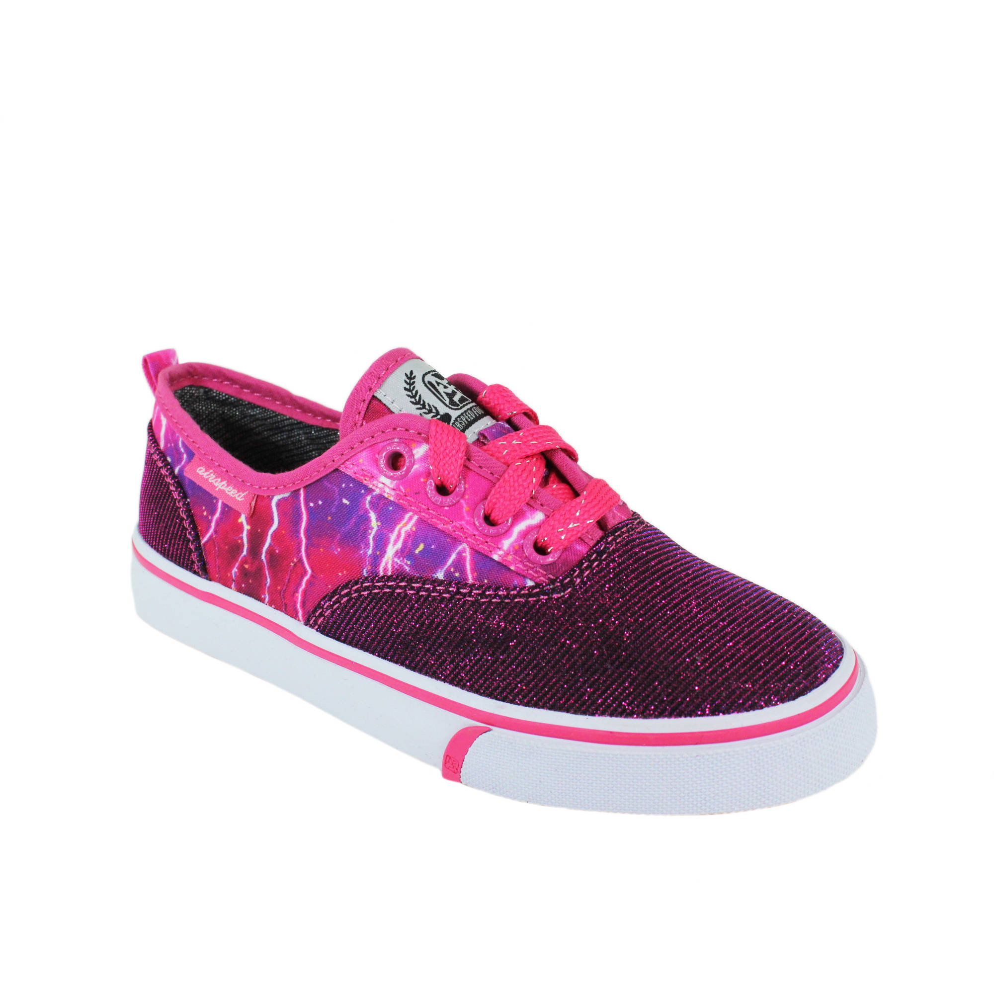 Image of Airspeed Girls' Canvas Sneaker with Shimmer Toe