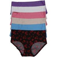 ToBeInStyle Women's Pack of 6 Laser Cut Panties - Medium