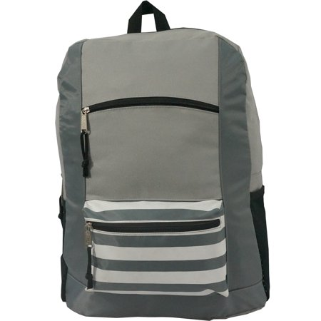 Wholesale Classic Backpack 18 inch Stripe Printed Basic Bookbag Bulk Cheap Case Lot 40pcs Simple Schoolbag Promotional Backpacks Low Price Non Profit Giveaway Fundraising Student School Book Bags](Cheap Promotional Items)