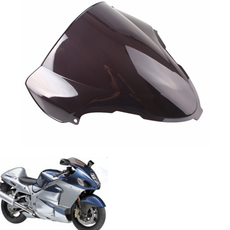 GZYF Smoke Black Double Bubble Motorcycle Windscreen Windshield for Suzuki Hayabusa GSX1300R 1999 - 2007