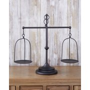 Farmhouse Scale Candleholder - Unique Centerpiece Stand with Vintage Style