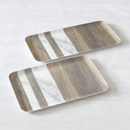 Better Homes & Gardens Neutralis Melamine Trays, 2 Pack