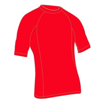 Adoretex Men's Rashguard UPF 50+ Swimwear Swim Shirt (RS004M) - Red - Small (Swimming Trunks And Rash Guard)