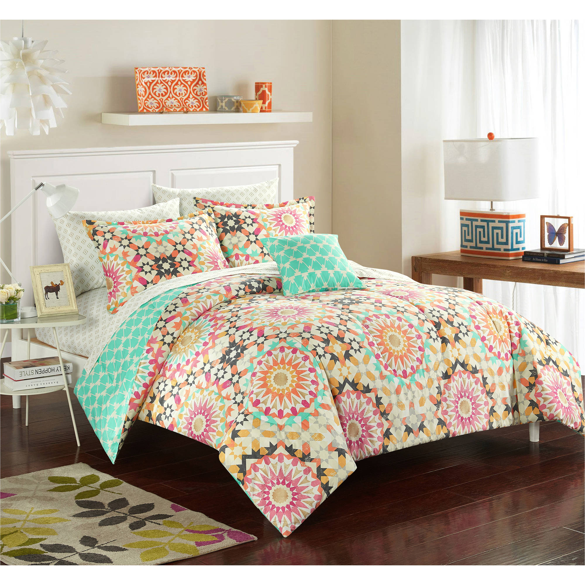 Formula Mila Medallion Bed in a Bag Bedding Set Walmart
