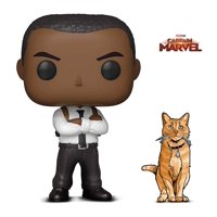 Warp Gadgets Bundle - Funko Pop Marvel Captain Marvel - Nick Fury and Figpin Mini - Captain Marvel Goose The Cat - Collectible Enamel Pin (2 Items)