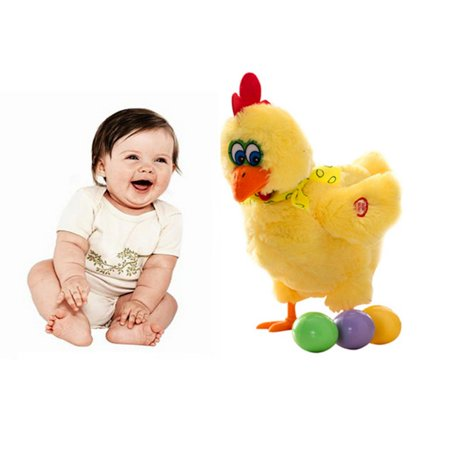 Electric Musical Dancing Chicken Hens will Laying Eggs of chickens Doll Raw Crazy Singing Dancing Pet Plush Toy Kids
