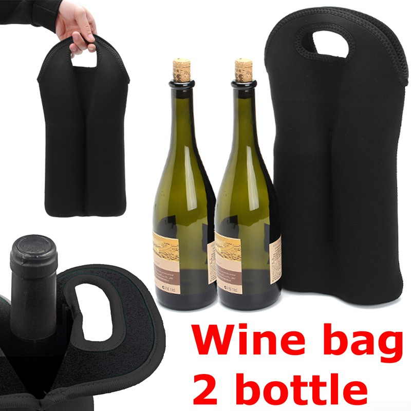 Carry 2 Bottle Drink Wine Beer Insulated Neoprene Bag Tote Carrier Cooler Case Walmart Canada