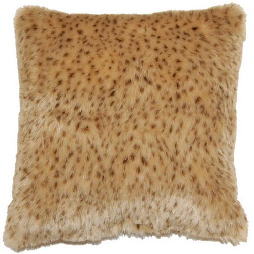 Fox Hill Trading Rapier Cheetah Print Faux Fur 17-inch Throw Pillows (Set of 2)